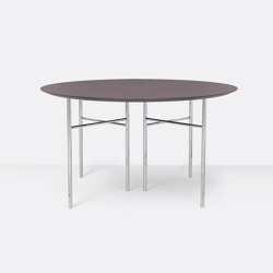 Mingle Round Table Top - Ø: 130cm –Taupe   Dining tables   ferm LIVING
