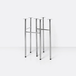 Mingle Table Legs - W48 - Chrome | Trestles | ferm LIVING
