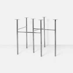 Mingle Table Legs - W68 - Chrome | Tischgestelle | ferm LIVING
