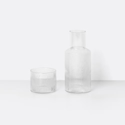 Ripple Small Carafe Set | Garrafas | ferm LIVING