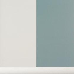 Wallpaper Thick Lines - dusty blue/off white | Revestimientos de paredes / papeles pintados | ferm LIVING