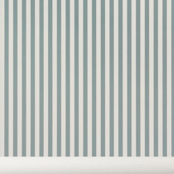 Wallpaper Thin lines - dusty blue/off white | Carta parati / tappezzeria | ferm LIVING