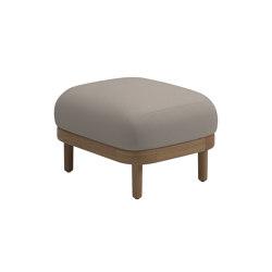 Dune Ottoman White | Taburetes | Gloster Furniture GmbH