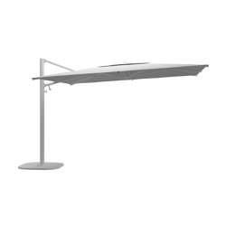 Halo Large Square Cantilever Parasol White | Parasols | Gloster Furniture GmbH