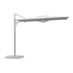 Halo Small Square Cantilever Parasol White   Parasoles   Gloster Furniture GmbH