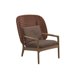 Kay High Back Lounge Chair Copper |  | Gloster Furniture GmbH