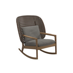 Kay High Back Rocking Chair Brindle | Sillones | Gloster Furniture GmbH