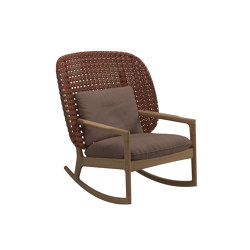 Kay High Back Rocking Chair Copper | Sessel | Gloster Furniture GmbH