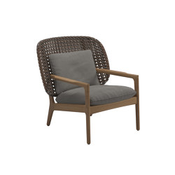 Kay Low Back Lounge Chair Brindle | Armchairs | Gloster Furniture GmbH