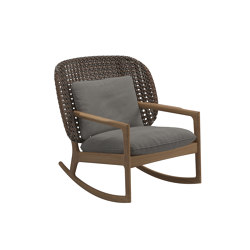 Kay Low Back Rocking Chair Brindle | Sessel | Gloster Furniture GmbH