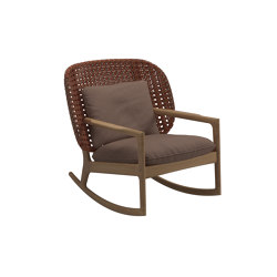 Kay Low Back Rocking Chair Copper | Armchairs | Gloster Furniture GmbH