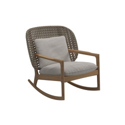 Kay Low Back Rocking Chair Harvest | Sessel | Gloster Furniture GmbH