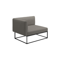 Maya Left End Unit Meteor Dot Nimbus | Armchairs | Gloster Furniture GmbH