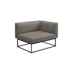 Maya Right End Unit Meteor Dot Nimbus | Armchairs | Gloster Furniture GmbH