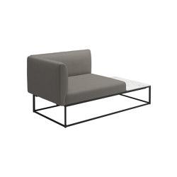 Maya Left Bianco Ceramic End Table Unit Meteor Dot Nimbus   Sessel   Gloster Furniture GmbH