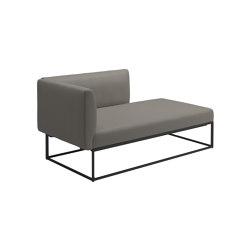 Maya Left Chaise Unit Meteor Dot Nimbus | Sofas | Gloster Furniture GmbH