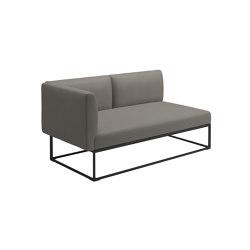Maya Left End Unit Meteor Dot Nimbus | Sofas | Gloster Furniture GmbH