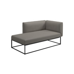 Maya Right Chaise Unit Meteor Dot Nimbus | Sofas | Gloster Furniture GmbH
