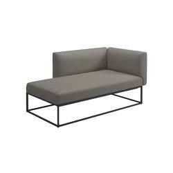 Maya Right Chaise Unit Meteor Dot Nimbus | Canapés | Gloster Furniture GmbH