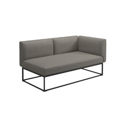 Maya Right End Unit Meteor Dot Nimbus | Sofas | Gloster Furniture GmbH
