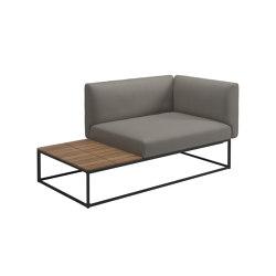 Maya Right Teak End Table Unit Meteor Dot Nimbus   Sessel   Gloster Furniture GmbH