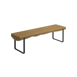 Raw Strata Bench Meteor | Benches | Gloster Furniture GmbH