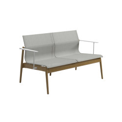 Sway Teak 2-Seater Sofa Buffed Teak Seagull | Sofas | Gloster Furniture GmbH