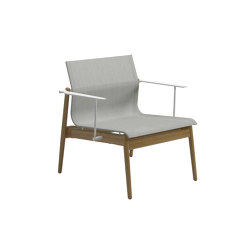 Sway Tea Lounge Chair Buffed Teak Seagull | Armchairs | Gloster Furniture GmbH