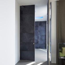 System M | Blue Design Pivot Doors | Hinges | FritsJurgens