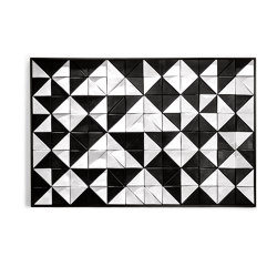 Tejo Black & White tile panel | Wall art / Murals | Mambo Unlimited Ideas