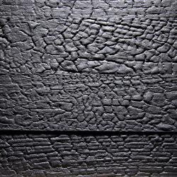 Flamed Wood Alpi Black matte lacquered | Wood veneers | VD Werkstätten