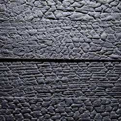 Flamed Wood Alpi Black matte lacquered | Chapas de madera | VD Werkstätten