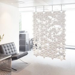 Facet Hanging Room Divider - 136x230cm | Sound absorbing room divider | Bloomming