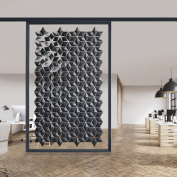 Facet Hanging Room Divider - 170x258cm | Sound absorbing room divider | Bloomming