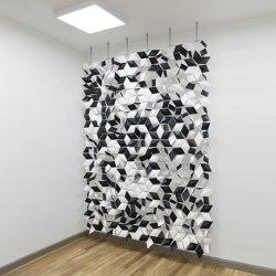 Facet Hanging Room Divider - 204x288cm   Sound absorbing suspended panels   Bloomming