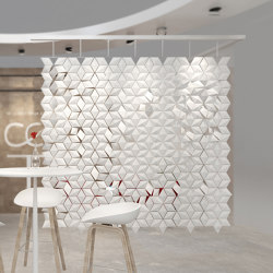 Facet Hanging Room Divider - 238x249cm | Sound absorbing room divider | Bloomming