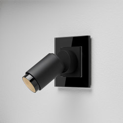 Plug & Light Gira Strahler - Esprit Glas Schwarz | Wall lights | Gira