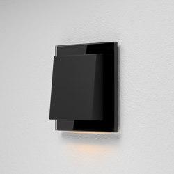 Plug & Light Gira Fluter – Esprit Glas Schwarz | Lámparas de pared | Gira