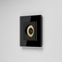 Plug & Light Gira Lichtsteckdose – Esprit Glas Schwarz | Reguladores de luz | Gira