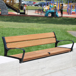 MLB870-L-W Wall-Mount Bench | Benches | Maglin Site Furniture