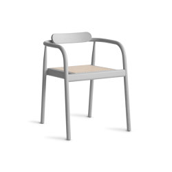 Ahm chair | Ash Grey with cane seat | Sillas | Please Wait to be Seated
