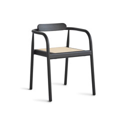 Ahm chair | Black with cane seat | Sillas | Please Wait to be Seated
