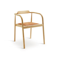 Ahm chair | Natural Ash with brown leather seat | Chairs | Please Wait to be Seated