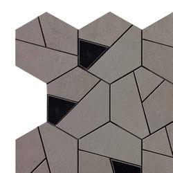 BOOST Smoke Mosaico Hex Black | Piastrelle ceramica | Atlas Concorde