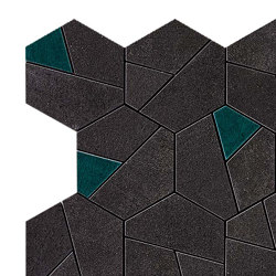 BOOST Tarmac Mosaico Hex Jade | Piastrelle ceramica | Atlas Concorde