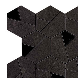 BOOST Tarmac Mosaico Hex Black | Ceramic tiles | Atlas Concorde