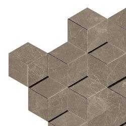 MARVEL Gris Supreme Mosaico 3D | Mosaicos de cerámica | Atlas Concorde