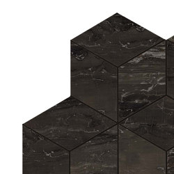 Marvel Absolute Brown Mosaico Esagono Lappato | Ceramic mosaics | Atlas Concorde