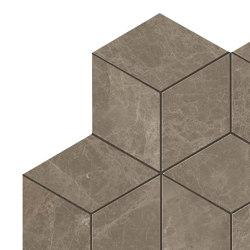 MARVEL Gris Supreme  Mosaico Esagono Lappato | Ceramic mosaics | Atlas Concorde