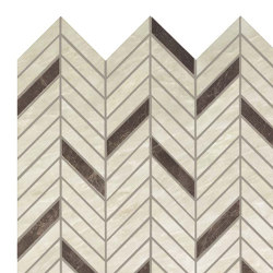 MARVEL Imperial White Mosaico Twill Lappato | Ceramic mosaics | Atlas Concorde
